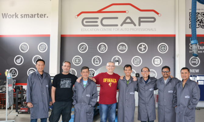 Engineers from Singapore on training at ECAP!